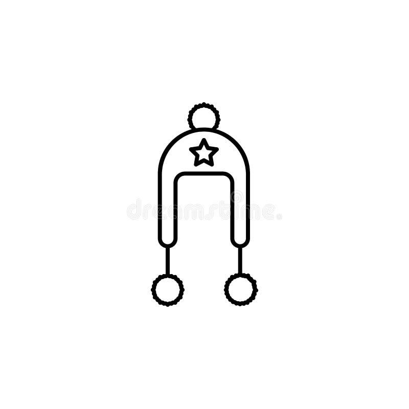 Reise, Anhängerentwurfsikone Element der Reiseillustration Zeichen und Symbolikone können für Netz, Logo, mobiler App, UI, UX ben stock abbildung