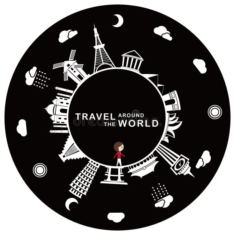 Reise auf der ganzen Welt vektor abbildung