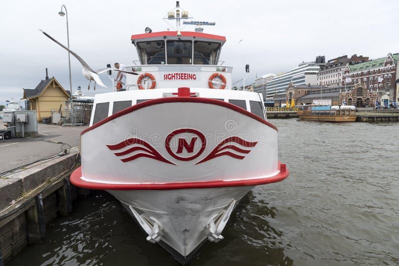 Reise-Boots-Helsinki-Hafen Finnland lizenzfreie stockfotografie