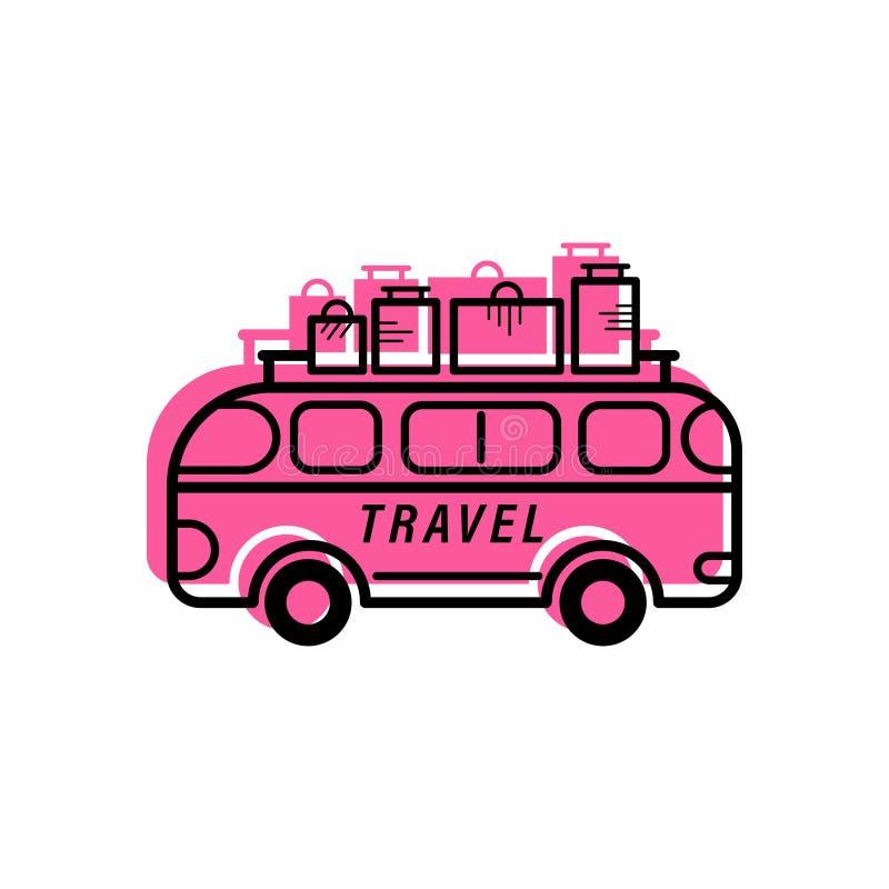 Reise-Bus-Fülle-Entwurf stockbilder