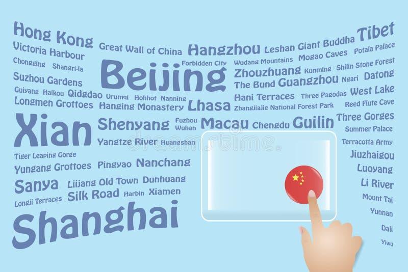 Reise-China-Konzept stock abbildung