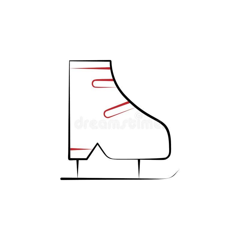 Reise des neuen Jahres, farbige Linie Ikone des Eislaufs 2 Einfache Handgezogene Farbelementillustration Eislaufentwurfs-Symbolen lizenzfreie abbildung