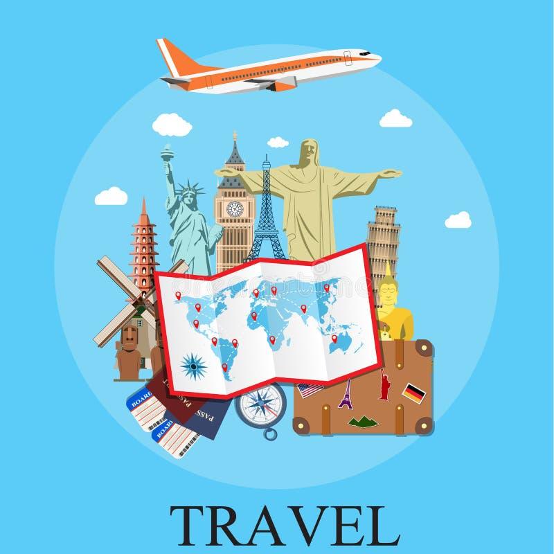 Reise durch Plane lizenzfreie abbildung