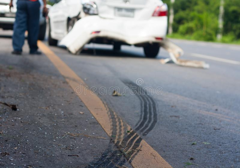Reise hat einen Autounfall verursacht lizenzfreies stockfoto