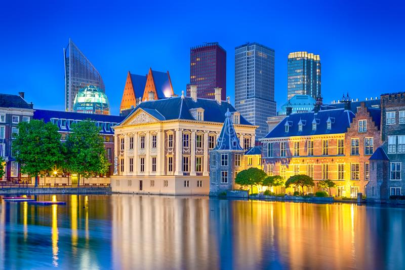 Reise-Ideen Binnenhof-Palast des Parlaments in Den Haag in lizenzfreie stockbilder