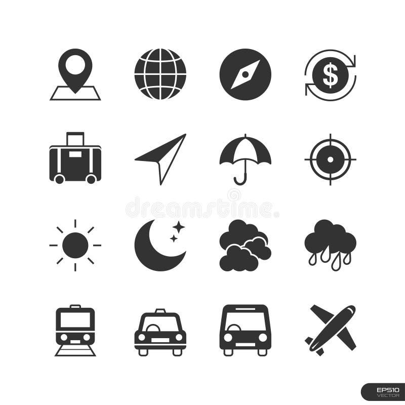 Reise-Ikonen eingestellt - Vektorillustration stock abbildung