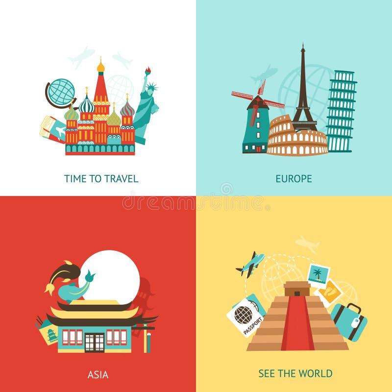 Reise-Konzept des Entwurfes lizenzfreie abbildung