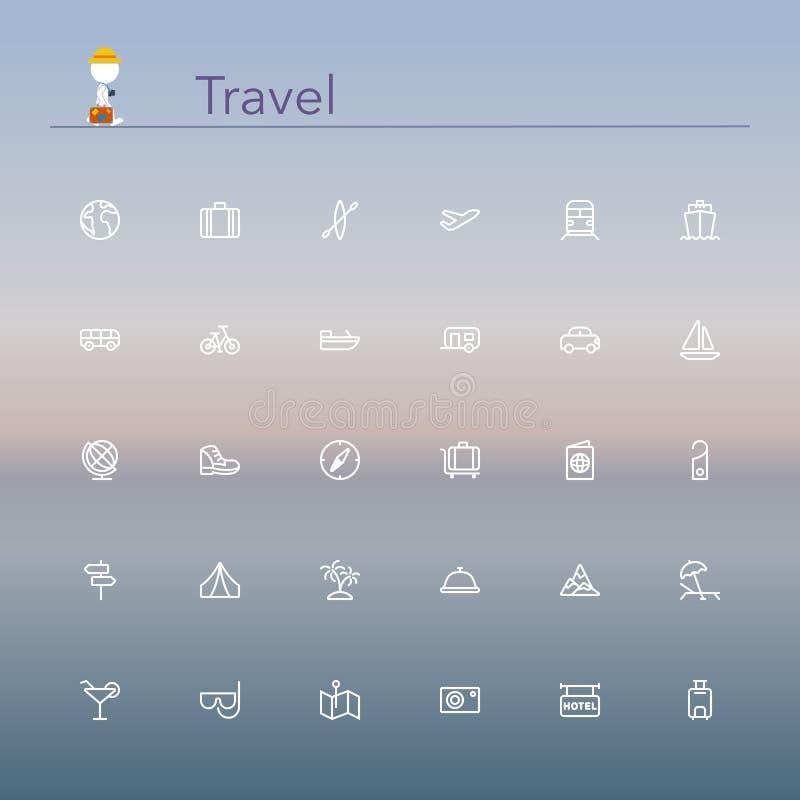 Reise-Linie Ikonen vektor abbildung