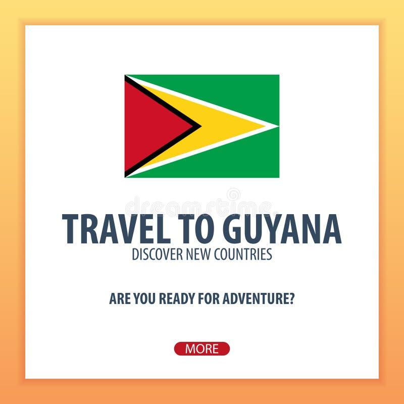 Reise nach Guyana Entdecken Sie und erforschen Sie neue Länder Abenteuerreise vektor abbildung