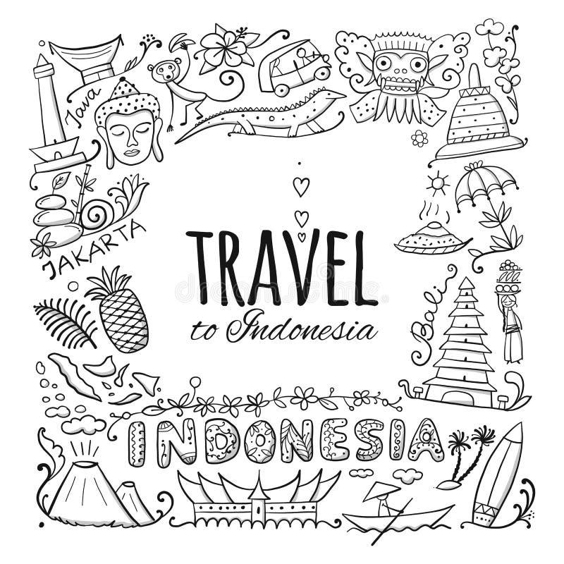 Reise nach Indonesien E stock abbildung