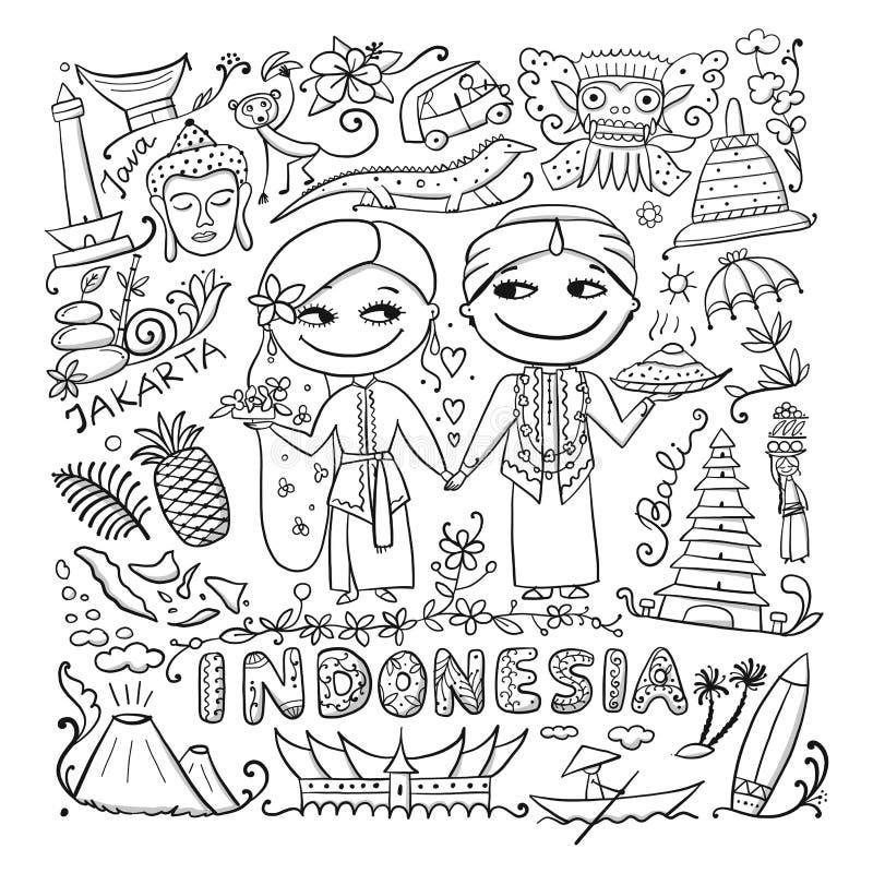 Reise nach Indonesien E lizenzfreie abbildung