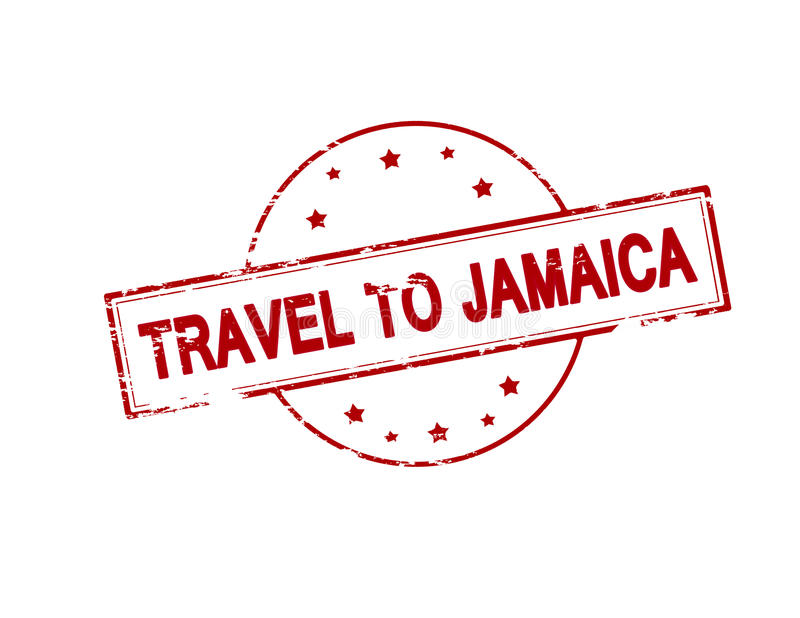 Reise nach Jamaika lizenzfreie abbildung