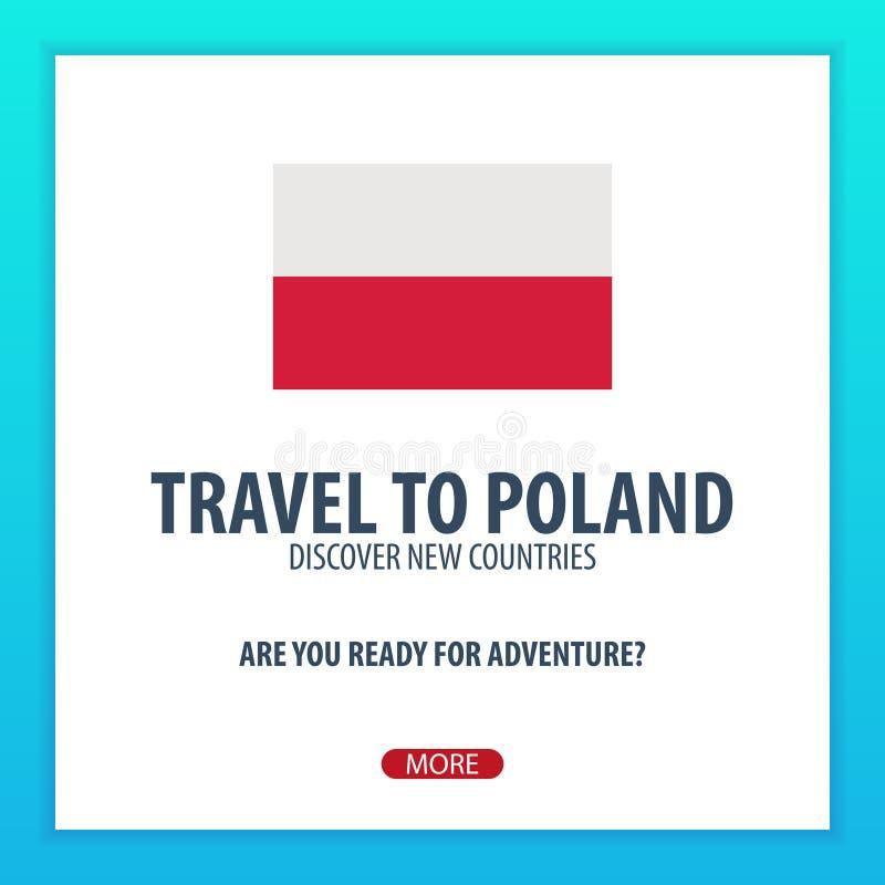 Reise nach Polen Entdecken Sie und erforschen Sie neue Länder Abenteuerreise vektor abbildung