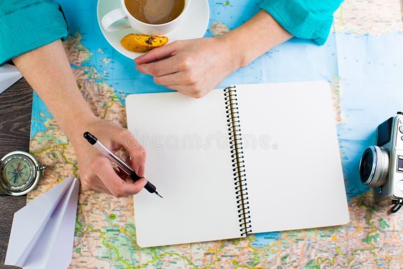 Reise, Reiseferien, Tourismusmodellwerkzeuge stockfoto