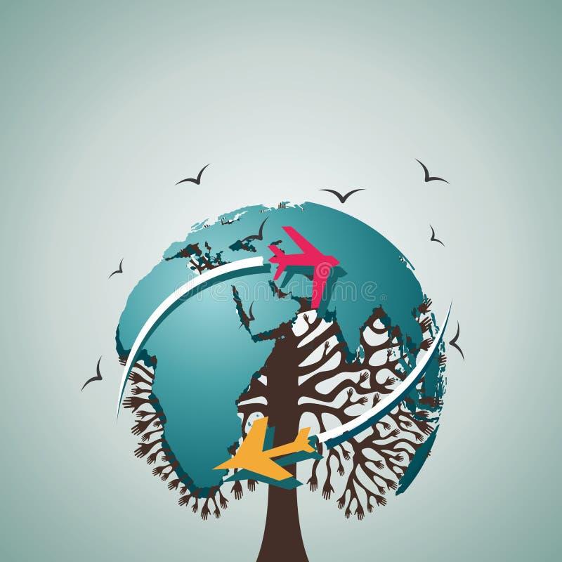 Download Reise um das Weltkonzept vektor abbildung. Illustration von strahl - 27725416