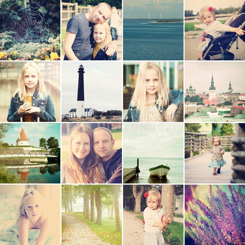 Reise um Estland reise Fotosatz lizenzfreies stockbild
