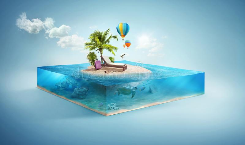 Reise-und Ferien-Hintergrund stock abbildung