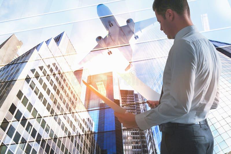 Reise- und Geschäftskonzept lizenzfreies stockfoto