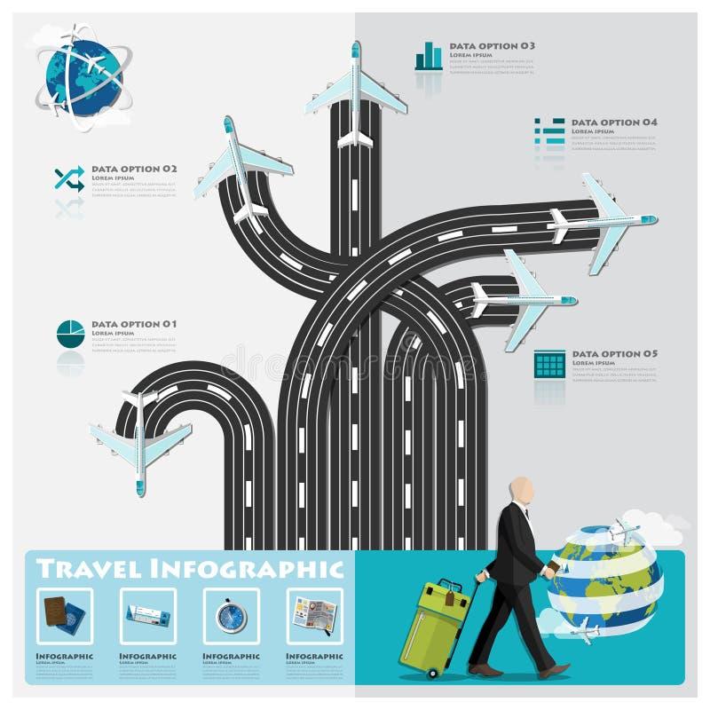 Reise-und Reise-Geschäft Infographic stock abbildung