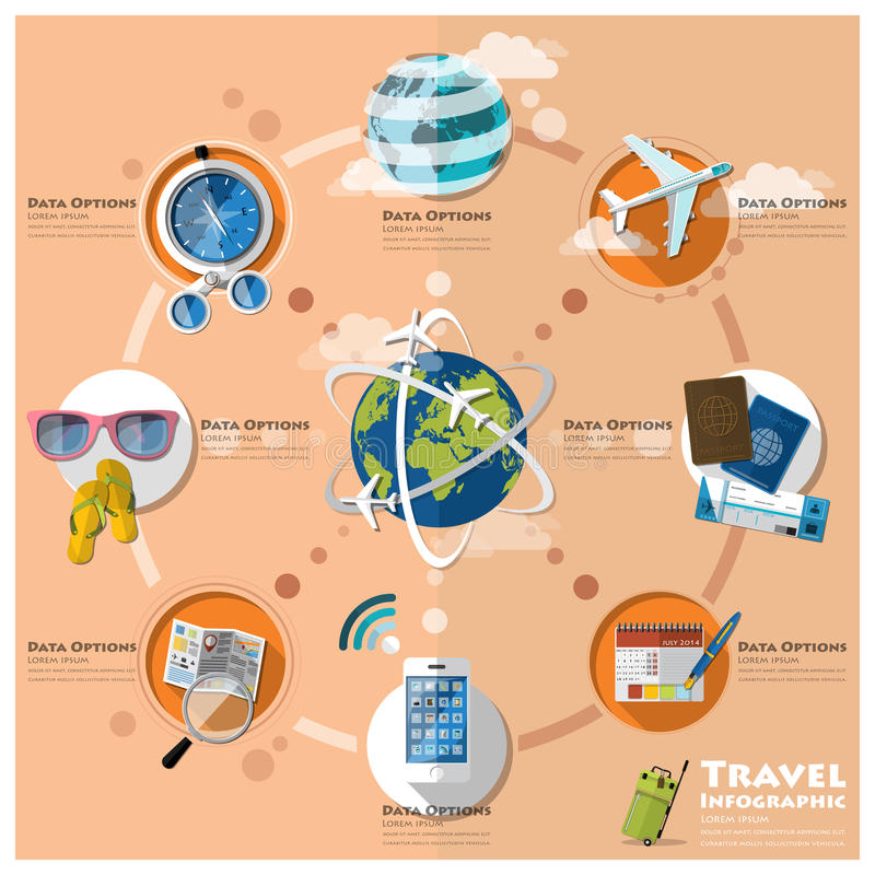 Reise-und Reise-Geschäft Infographic vektor abbildung