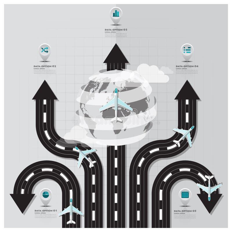 Reise-und Reise-Rollbahn-Geschäft Infographic stock abbildung