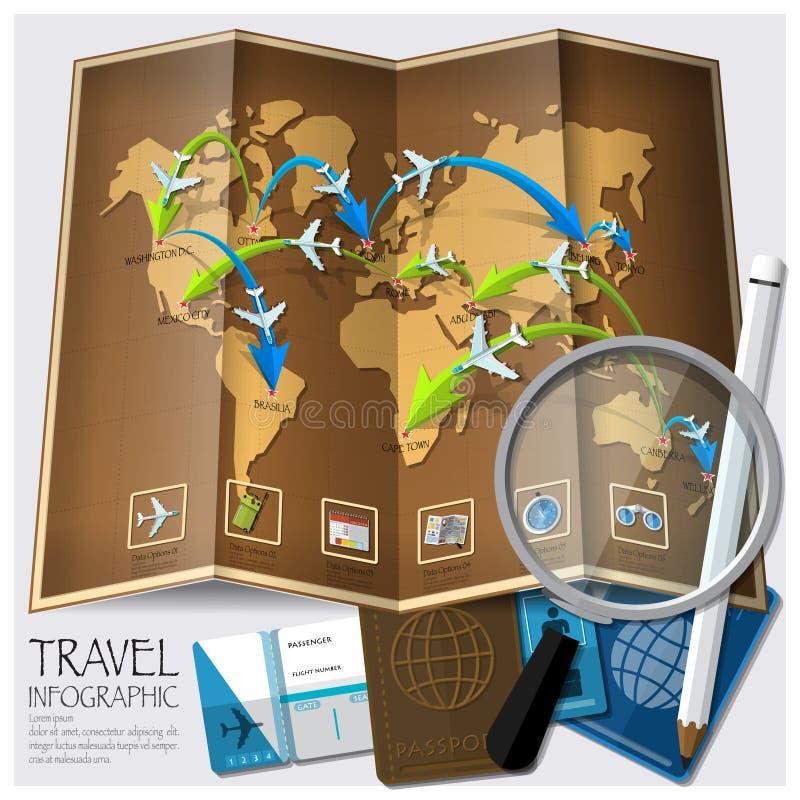 Reise-und Reise-Weltkarte Infographic vektor abbildung