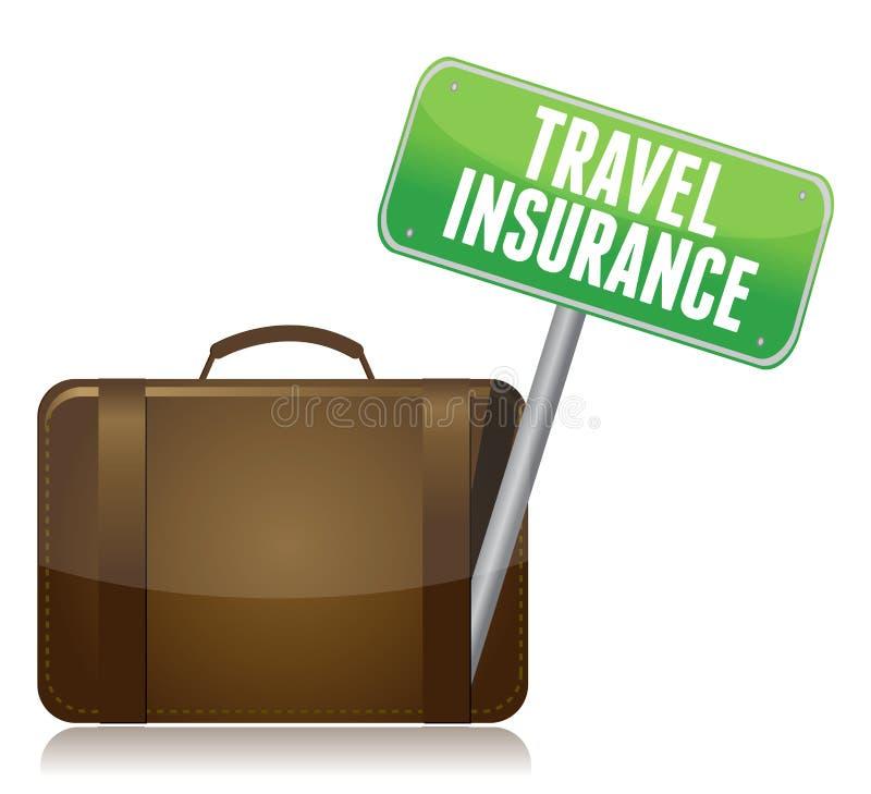 Reise-Versicherungskonzept stock abbildung
