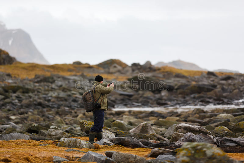 Reise zu Lofoten-Inseln stockfotografie