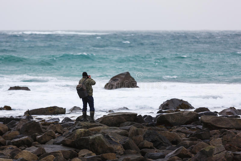 Reise zu Lofoten-Inseln lizenzfreies stockfoto