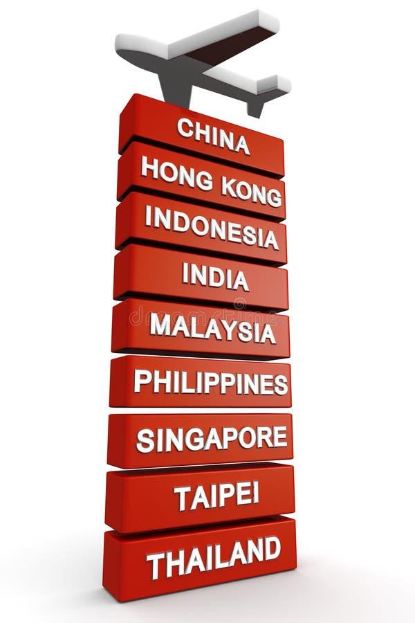Reise zum Asien-Konzept vektor abbildung