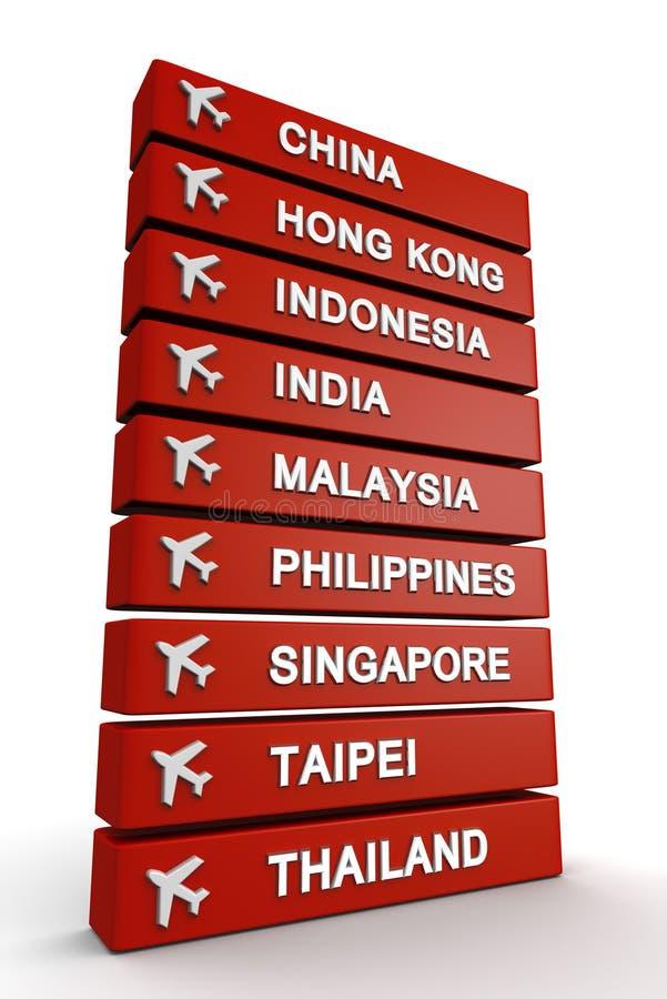 Reise zum Asien-Konzept lizenzfreie abbildung