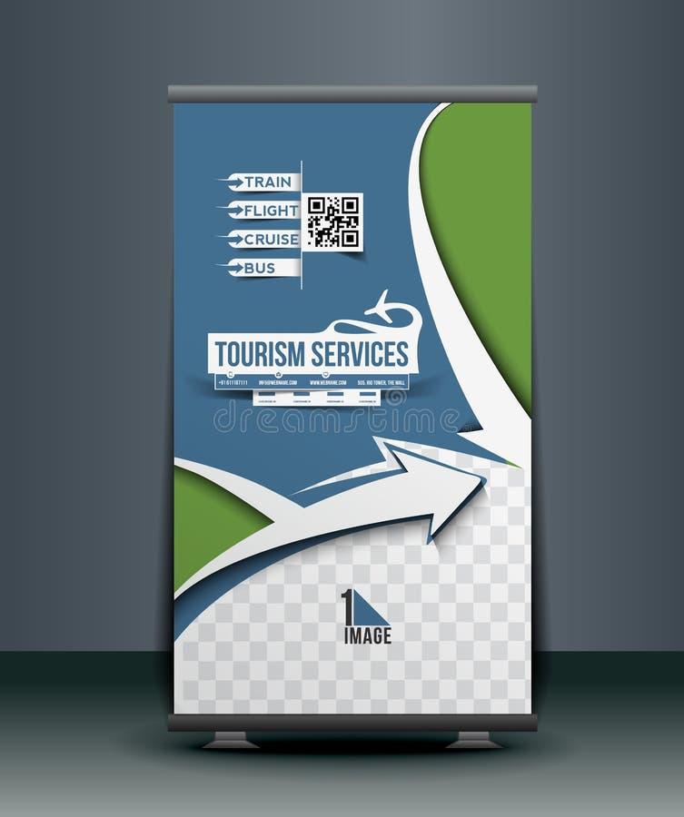 Reisebüro Roll Up Banner lizenzfreie abbildung