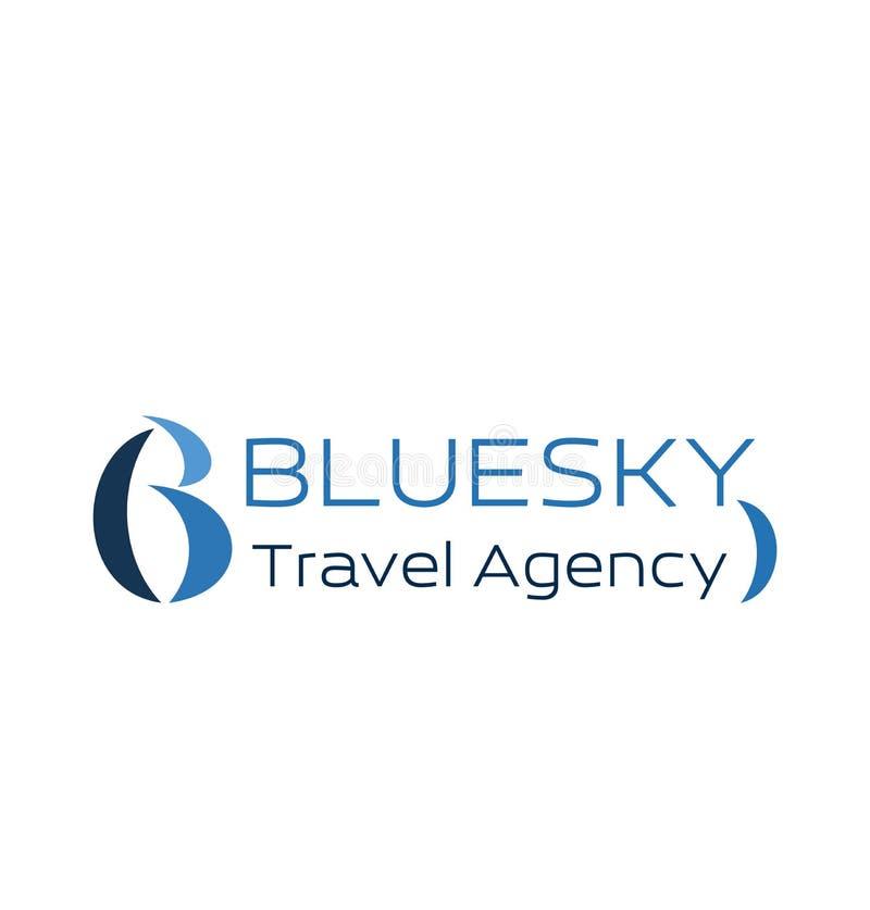 Reisebüroikone für Visitenkarteentwurf lizenzfreie abbildung