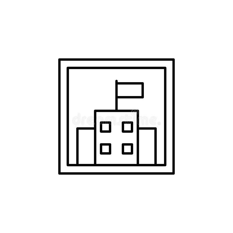 Reisebild-Entwurfsikone Elemente der Reiseillustrationsikone Zeichen und Symbole k?nnen f?r Netz, Logo, mobiler App, UI, UX verwe stock abbildung