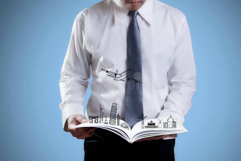Reisebuch lizenzfreies stockfoto