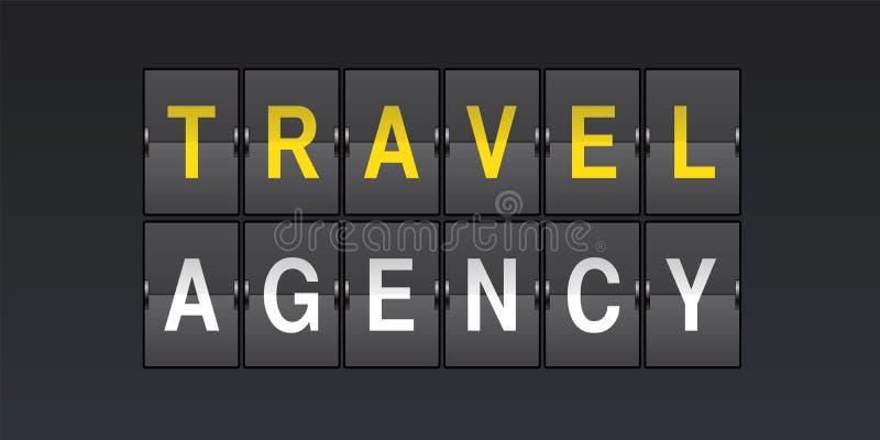 Reisefirmenvektorlogo, Ikone lizenzfreie abbildung
