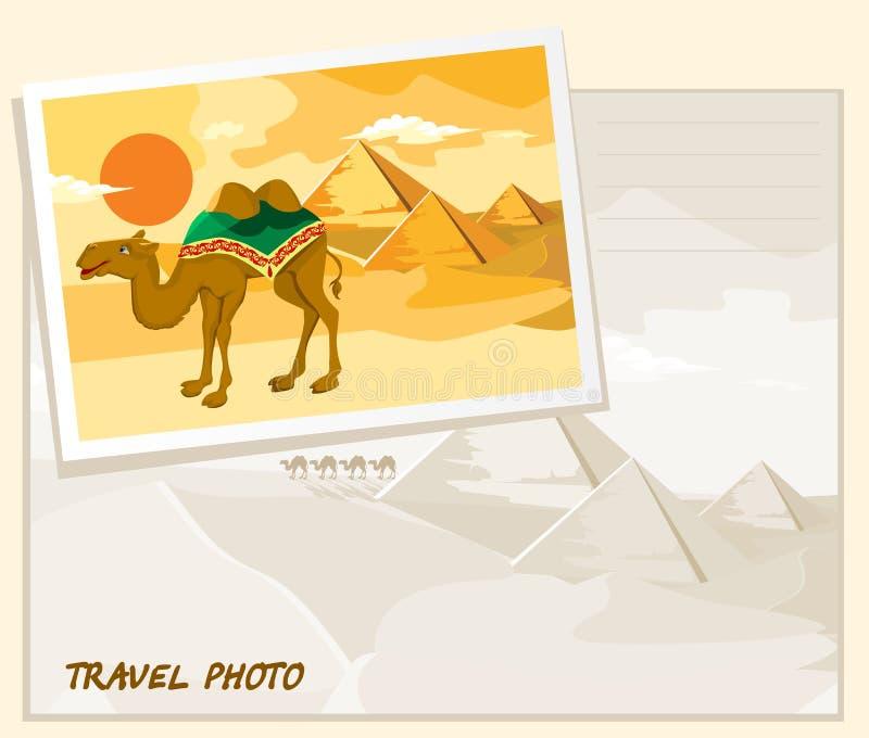 Reisefotoschablone lizenzfreie abbildung