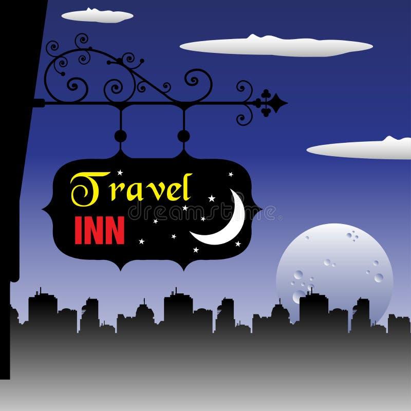 Reisegasthausplatte lizenzfreie abbildung