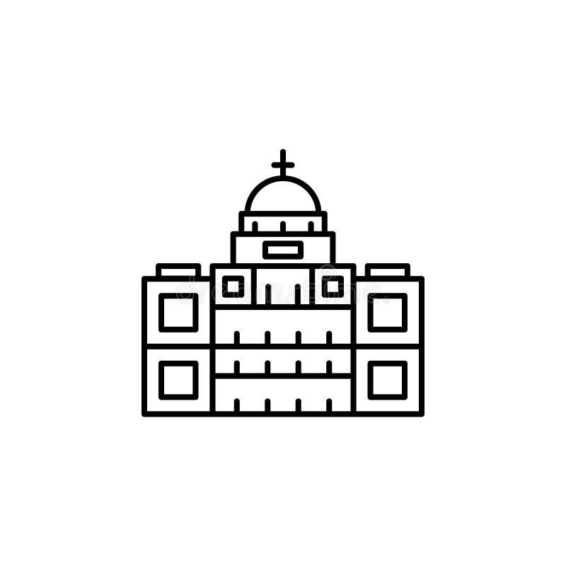 Reisekapitol-Entwurfsikone Elemente der Reiseillustrationsikone Zeichen und Symbole k?nnen f?r Netz, Logo, mobiler App, UI, UX ve vektor abbildung