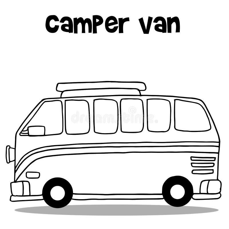 Reisemobil Vektorkunst stock abbildung