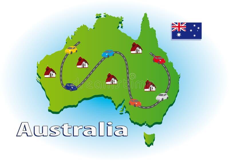 Reisen in Australien vektor abbildung