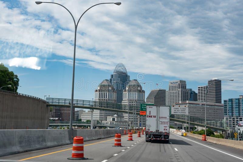 Reisen in Cincinnati lizenzfreies stockbild