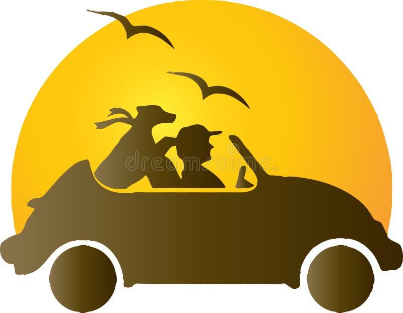 Reisen in das Auto stock abbildung