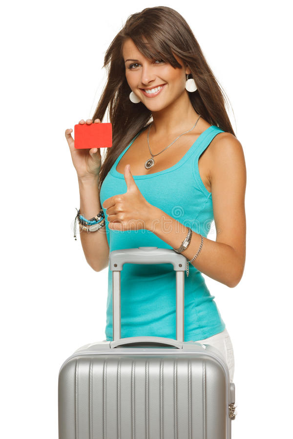 Reisen-Kreditkarte lizenzfreies stockfoto