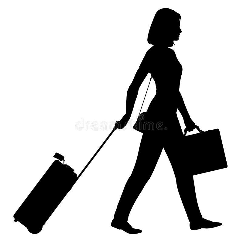 Reisen-Mädchen lizenzfreie abbildung