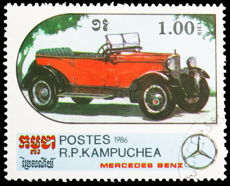 Reisen Motor- 1920, Jahrhundert des Bewegungsmotor- Mercedes Benz Models-serie, circa 1986 lizenzfreie stockbilder