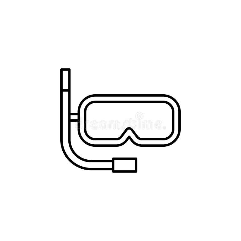 Reisen, Schwimmen, Stammentwurfsikone Element der Reiseillustration Zeichen und Symbolikone können für Netz, Logo, Mobile benutzt stock abbildung