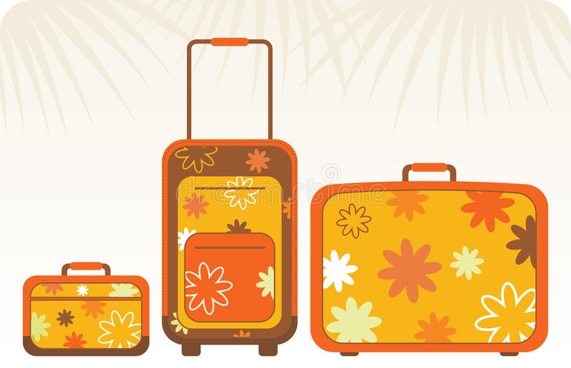 Reisende Beutel - Orange lizenzfreie abbildung