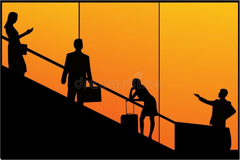Reisende Leute stock abbildung