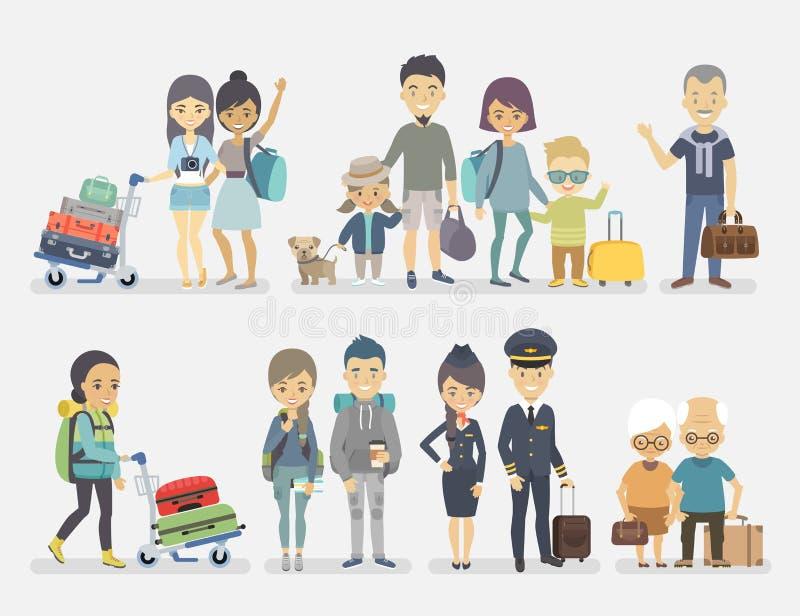 Reisende Leute vektor abbildung
